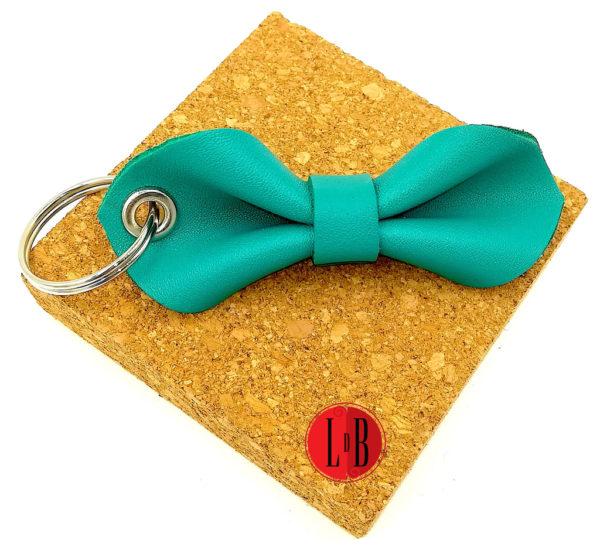 Porte-clefs-noeud-pap-bleu