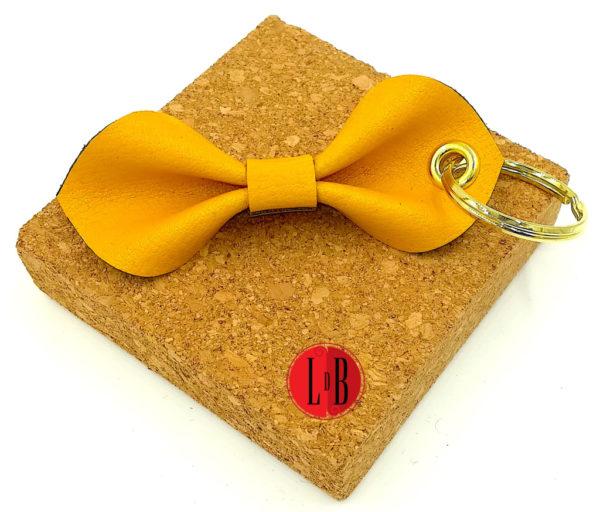 Porte-clefs-noeud-pap-jaune