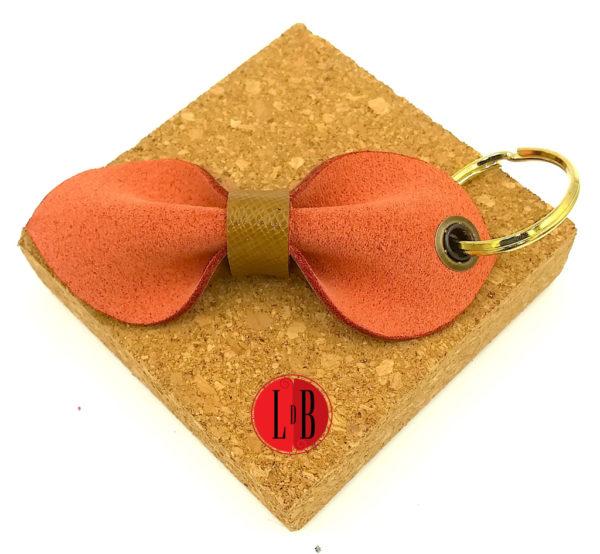 Porte-clefs-noeud-pap-marron-orange-verso