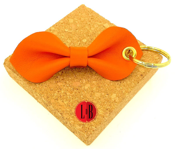Porte-clefs-noeud-pap-orange