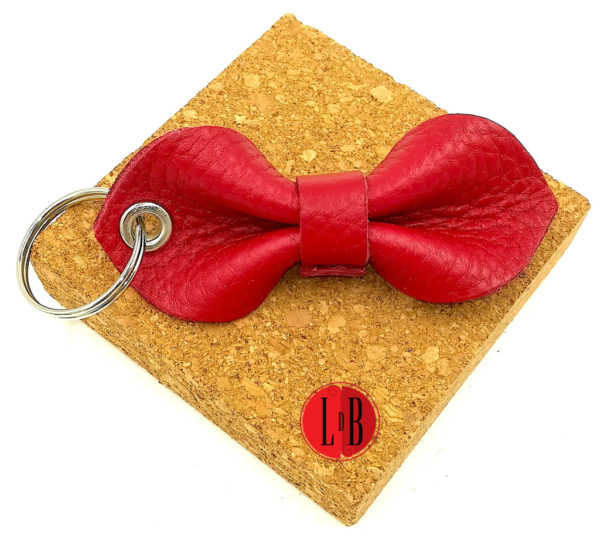 Porte-clefs-noeud-pap-rouge
