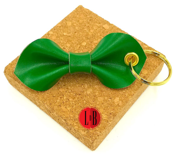 Porte-clefs-noeud-pap-vert