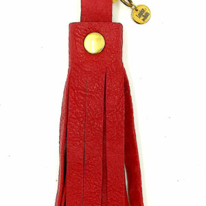 Porte-clefs-pampille-rouge-et-or