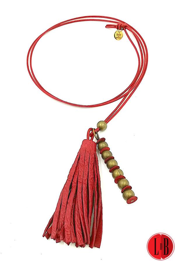 Sautoir-cuir-pompon-perle